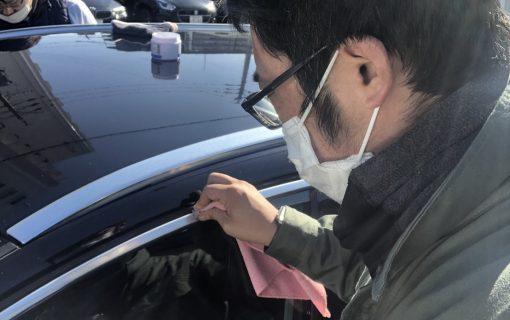 輸入車のアルミモール磨き☆ 愛知 名古屋 自社ローン マイカー横綱くん