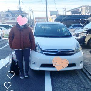 トヨタアイシスご納車でした♪ 愛知 名古屋 自社ローン マイカー横綱くん